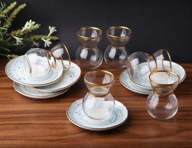 Rekabet Pazarı Lanny Porselen 12 Parça Çay Seti Renkli